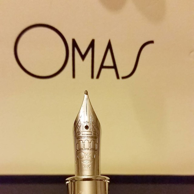 Nib shot of my newest #omas #Fpgeeks #FPN #fountainpennetwork #saveomas #funtainpen #bologna