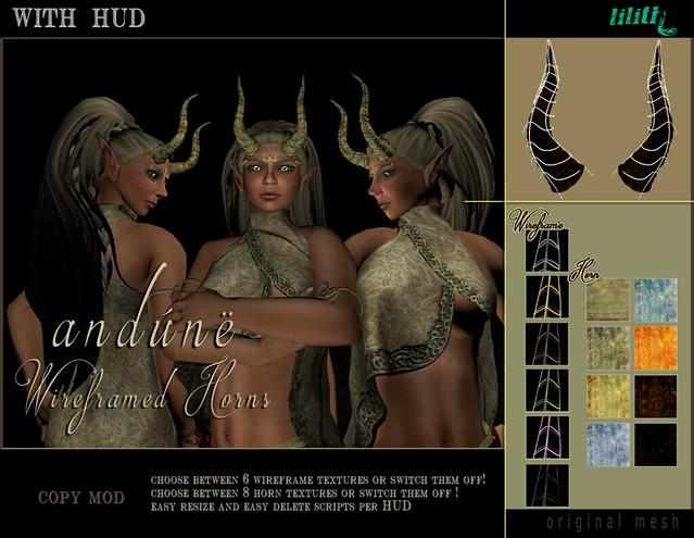 LD Andùne Wireframed Horns