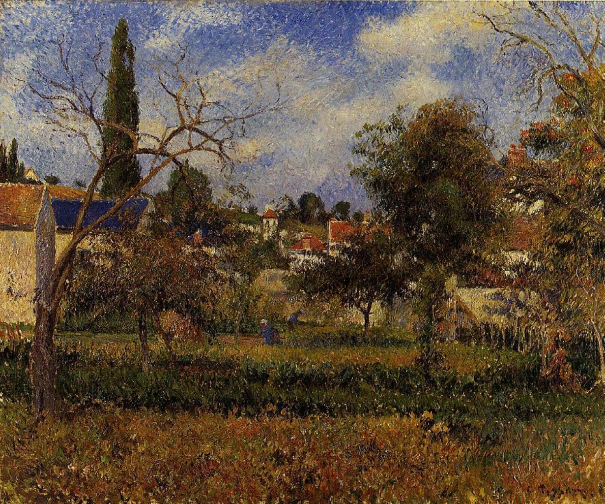 Kitchen Gardens, Pontoise by Camille Pissarro, 1881