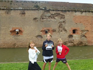 Wall, moat, kids