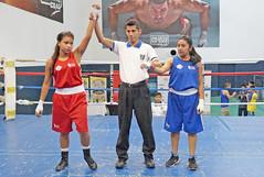 Evelin López (rojo) Sandra Sontay