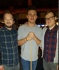 Charlie and Nadz run into #JohnnyManziel at Dave and Busters playing pool. #RMG