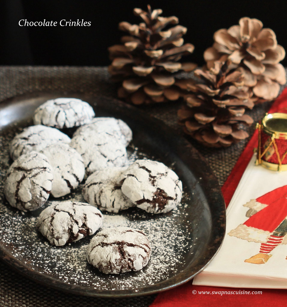 Chocolate Crinkle Cookie Recipe,
