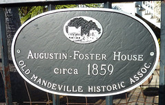 Photo of Augustin-Foster House black plaque