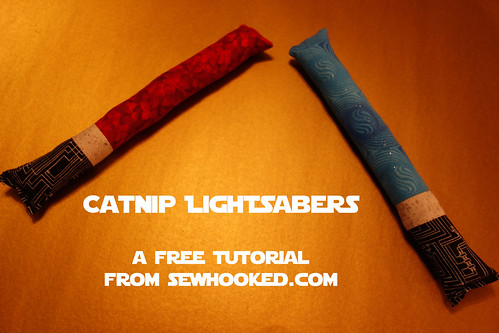 Catnip Lightsaber Tutorial on sewhooked.com