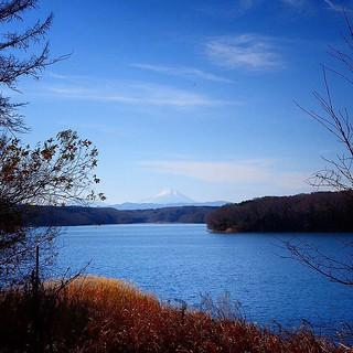 來熊貓森林散步,走到池邊竟然看到富士山啊富士山! 這個新年真不錯,有浅草寺大吉和富士山嘿嘿! :D Mt. Fuji! #lifewelltravelled