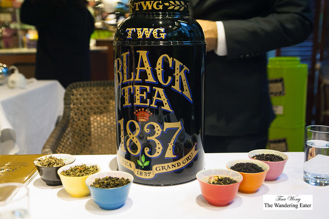 TWG tea tasting