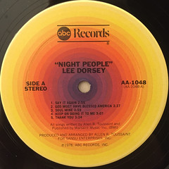 LEE DORSEY:NIGHT PEOPLE(LABEL SIDE-A)