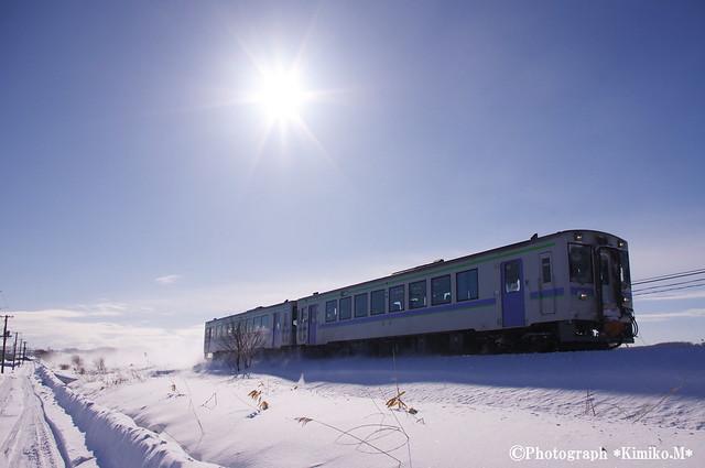 冬晴れの富良野線1