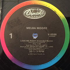 MELBA MOORE:LOVE ME RIGHT(LABEL SIDE-A)