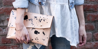 Leather Clutch, Walter and George (2)