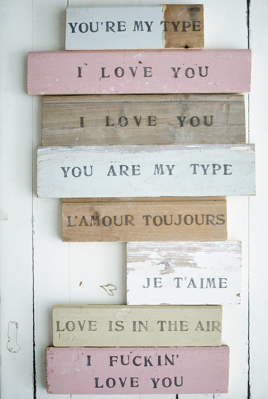 wood & word love signs
