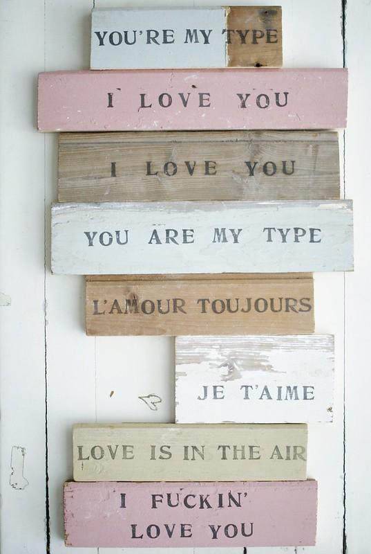 wood & word love signs