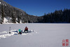 The peaceful solitude of ice fishing