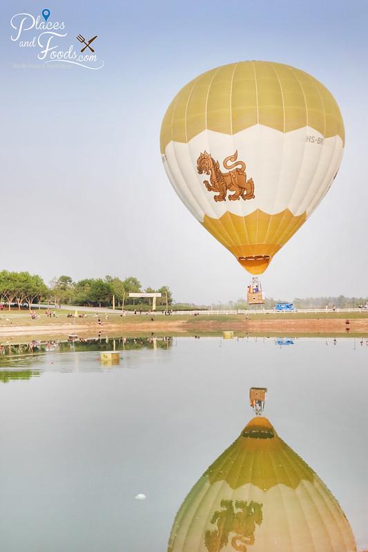 singha park international hot air balloon singha single reflection