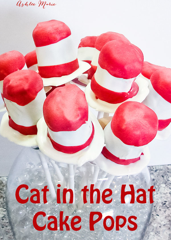 cat in the hat cake pops, or oreo cookie ball pops are easy to make and perfect for celebrating dr seuss birthday