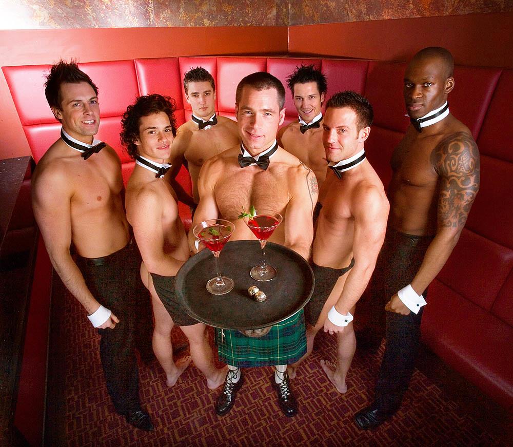 LETA: Sexy male waiters
