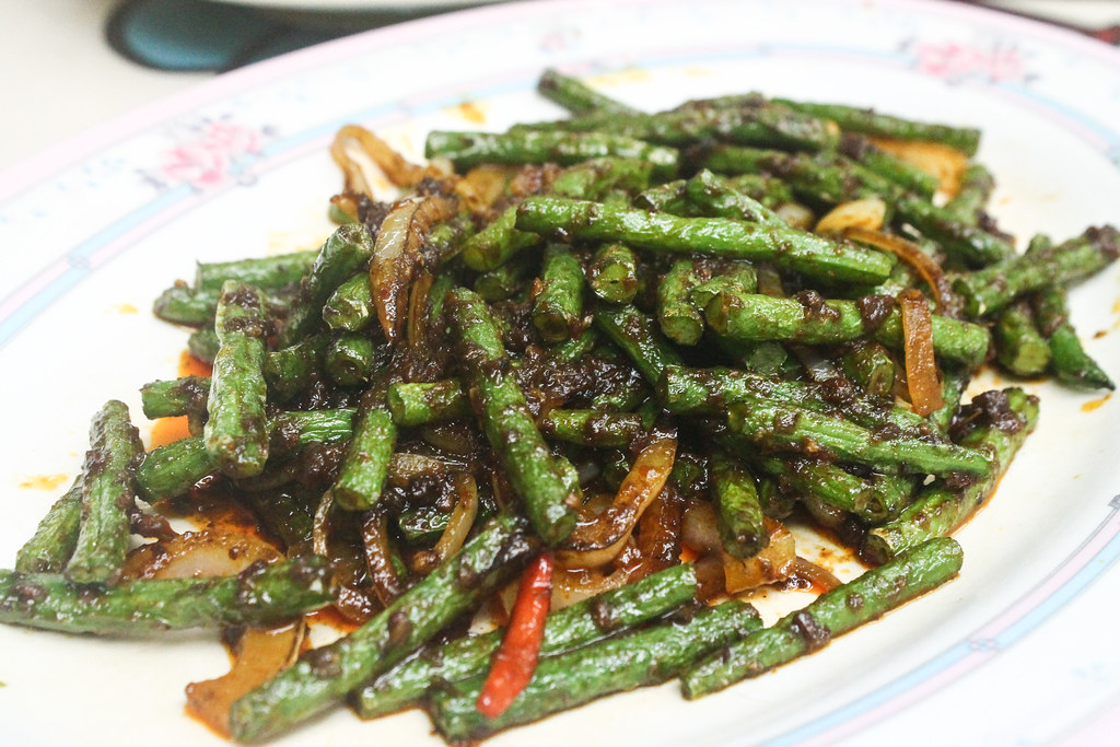 Cheap Eats in Woodlands: 834 Eating House - Tze Char - French beans with sambal