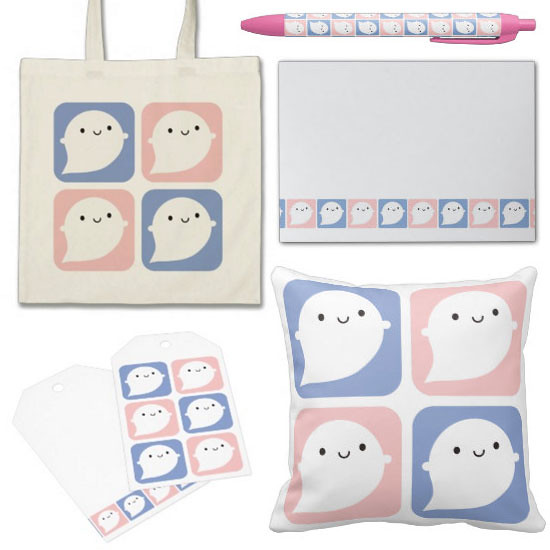 Pastel Ghosts at Zazzle