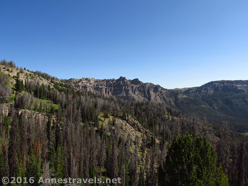 Views from near the Scree Route to Dundee Falls beyond Bonneville Pass, Shoshone National Forest, Wyoming