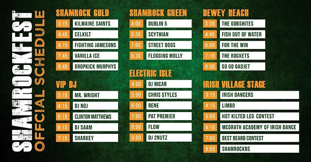 Shamrockfest 2016 - Schedule