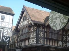 Tudor buildings in Shrewsbury