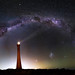 Milky Way over Guilderton Lighthouse, Western Australia - 35mm Panorama by inefekt69