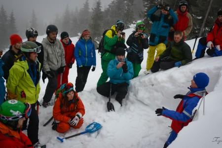 Velký zájem o školení lavinové prevence na Ukrajině