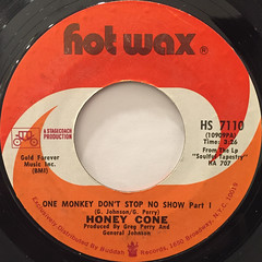 HONEY CONE:ONE MONKEY DON'T STOP  NO SHOW(LABEL SIDE-A)