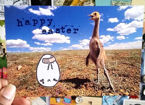 Happy easter! #mailart #mailartists #snailmailing #snailmailrevival #postcard #easter #egg #easteregg #humour