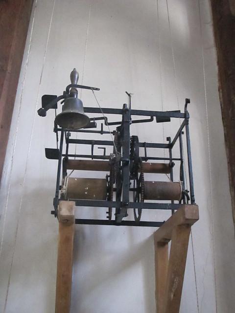 Rare clock mechanism, St. Andrew's, Mottisfont