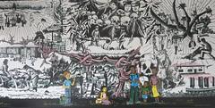 Genocide mural at Camp Kigali Memorial