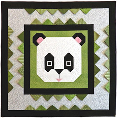 San Diego Panda Baby Custom Quilt by Whimzie Quiltz