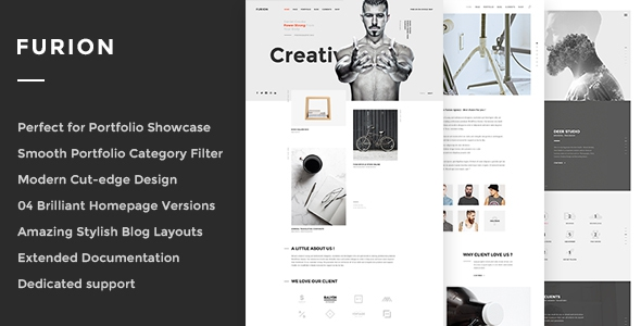 Furion v1.0 - Creative Blog & Portfolio WordPress Theme