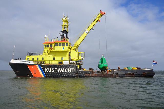 Vlieland - Vliesloot - betonningsvaartuig Terschelling