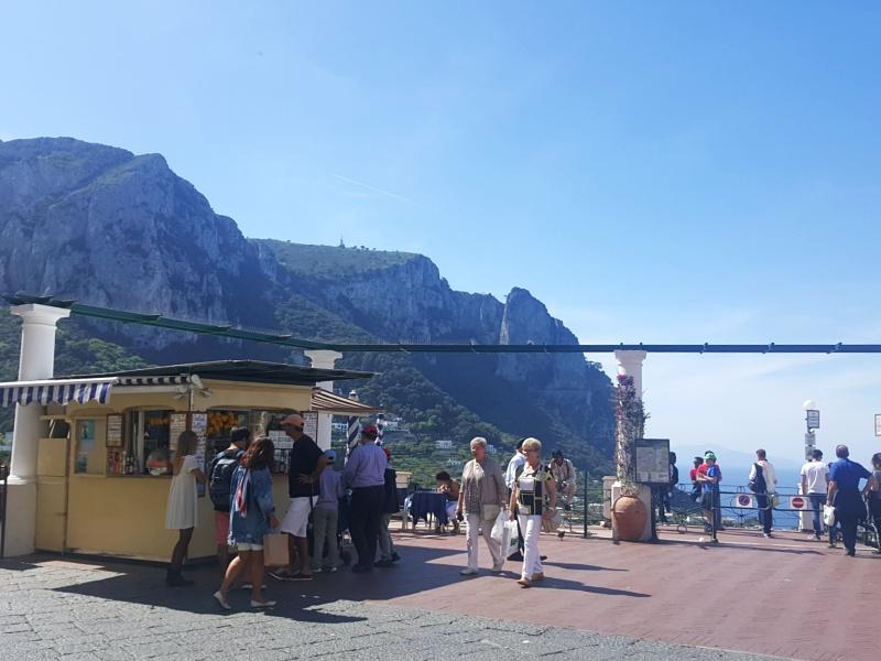 Capri arrival