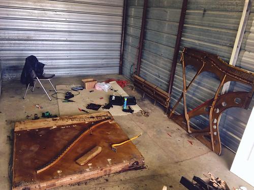 Cast Iron Piano Harp Dismatled (May 1 2015)