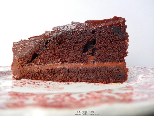 tort cu ganache de ciocolata si caramel
