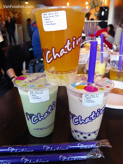 Mango Green Tea, Matcha Tea Latte and Roasted Milk Tea