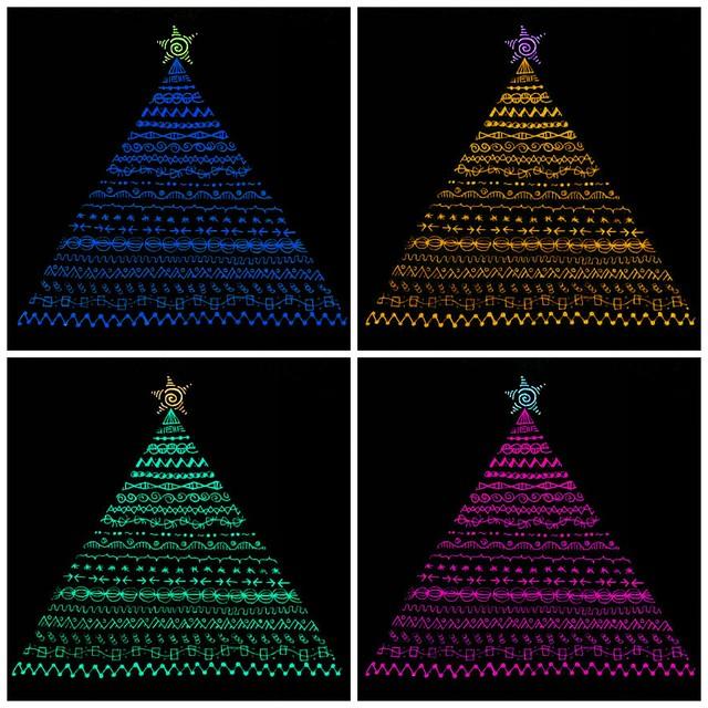Warhol Christmas Trees - Colette Horsburgh