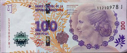 Argentina 100 pesos banknote