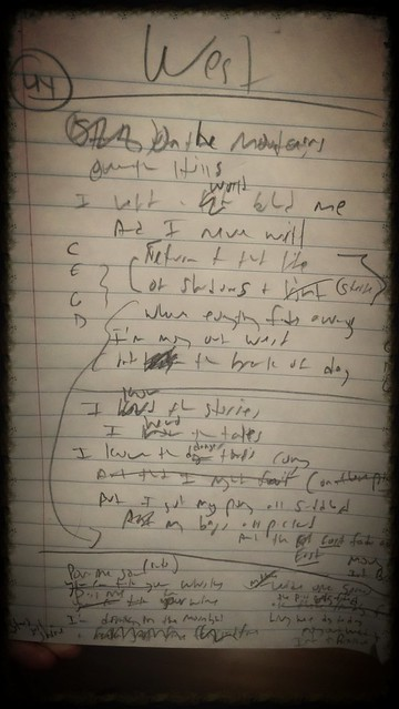 Moving out West lyric sheet