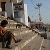 """There's no """"Beware of Monkeys"""" sign in Varanasi, but maybe there should be. https://brunocerous.wordpress.com/2016/02/02/monkey-business-in-varanasi/"""