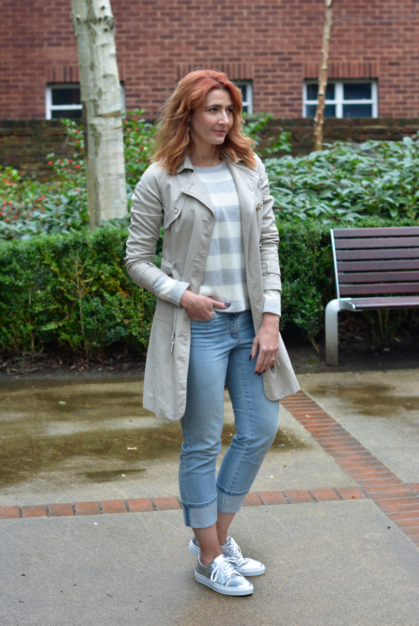 Soft pastels, light wash denim and silver for spring | Not Dressed As Lamb