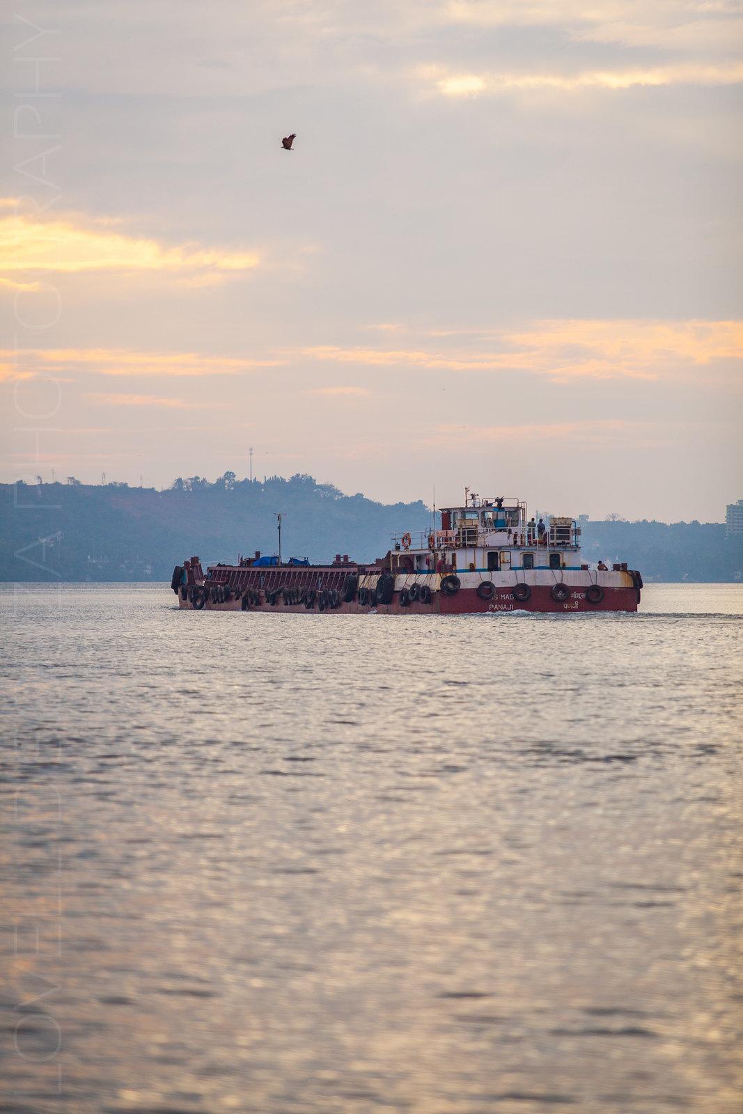 Barge on the Mandovi River