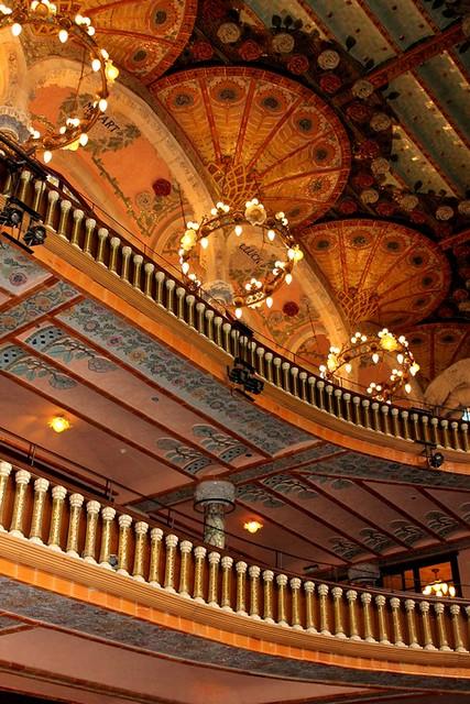 Palau de la Música Catalana. Interior.