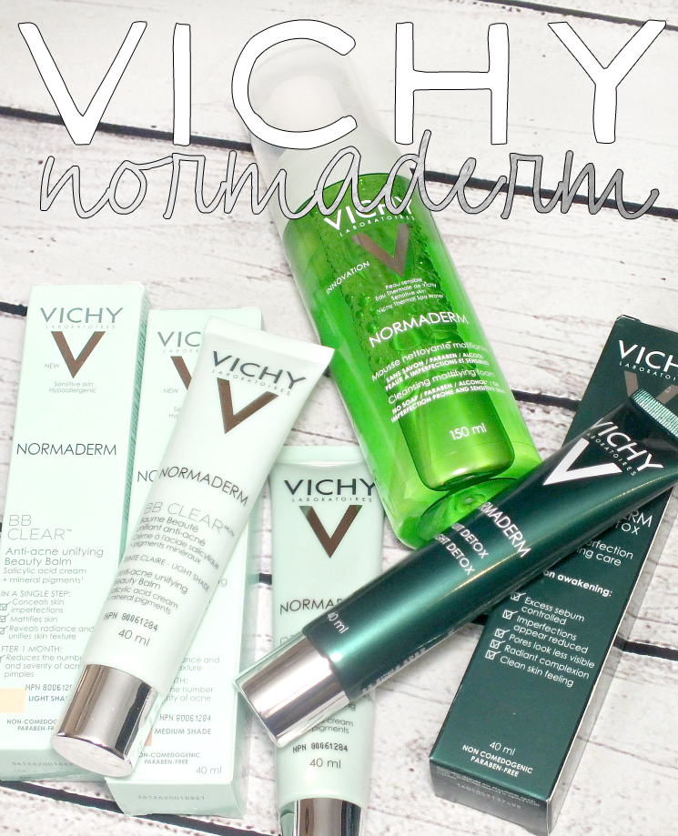 vichy normaderm foaming mousse, night detox and bb clear