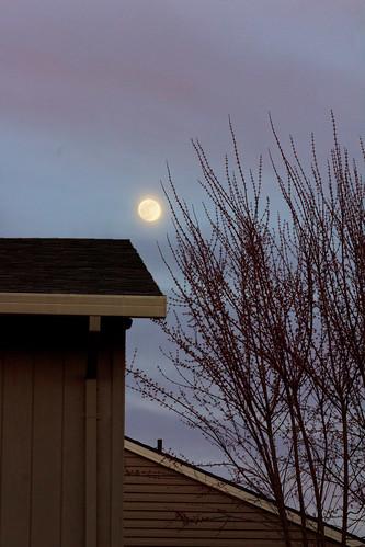 sunset sky moon oregon