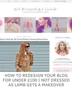 Not Dressed As Lamb | How to redesign your blog for under £100