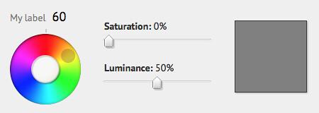 Yellow at 0% saturation